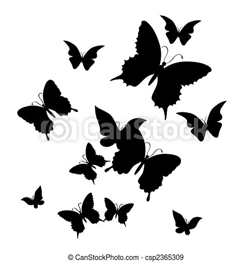 The butterfly. Vector illustration  - csp2365309