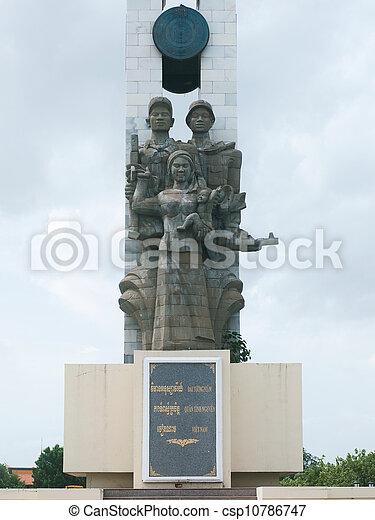 The Cambodian Vietnamese Friendship Monument - csp10786747