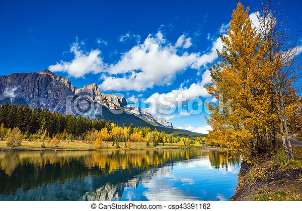 The Canadian Rockies, Canmore - csp43391162