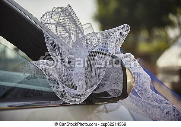 The car adorned for the wedding. - csp62214369