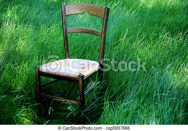 The chair. - csp5937666
