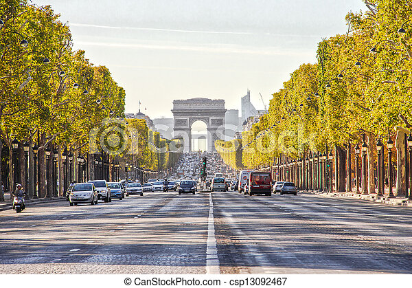 The Champs-Elysees - csp13092467
