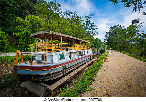 The Charles F Mercer Canal Boat At Chesapeake Ohio Canal