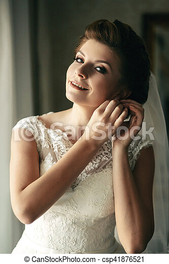 the charming bride stock photo csp41876521