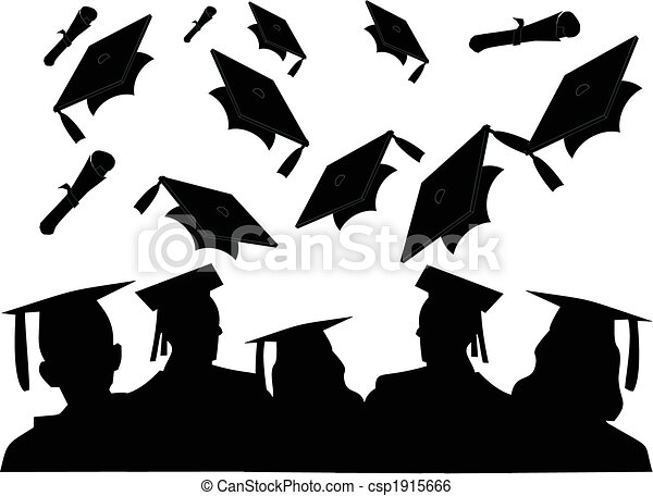 The Cheer Of The Graduating Class As They Toss Their Hats
