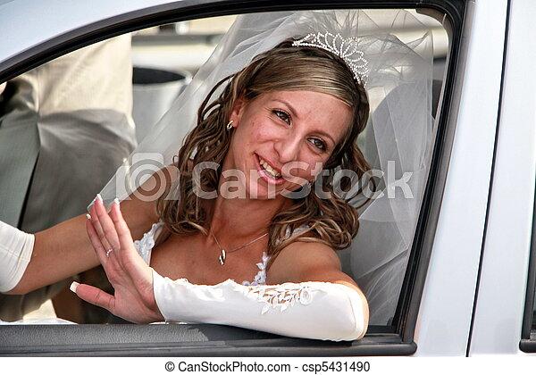 The cheerful bride - csp5431490