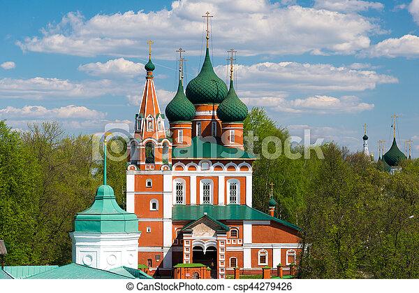 The church of Archangel Michael in Yaroslavl. Golden ring, Russia. - csp44279426
