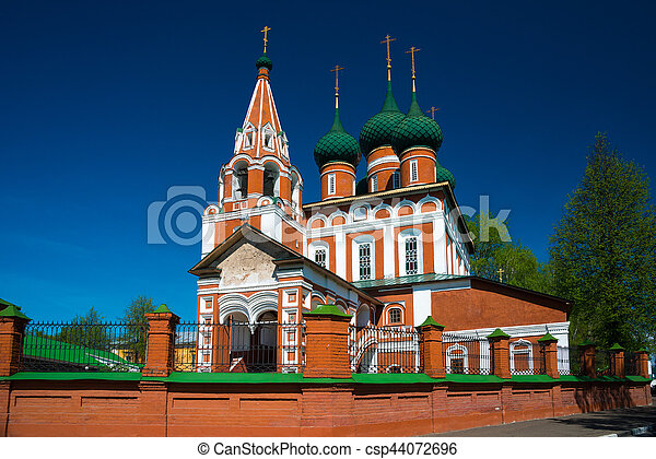The church of Archangel Michael in Yaroslavl. Golden ring, Russia. - csp44072696