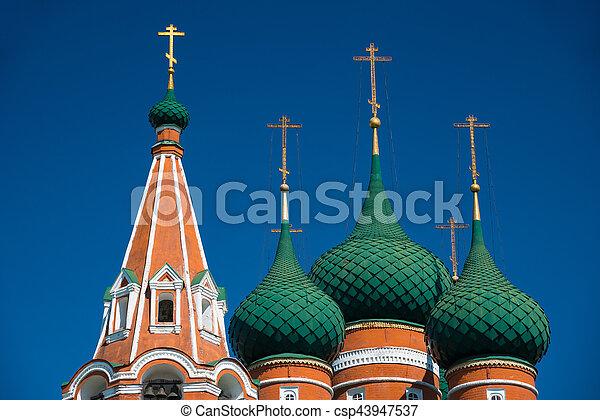The church of Archangel Michael in Yaroslavl. Golden ring, Russia. - csp43947537
