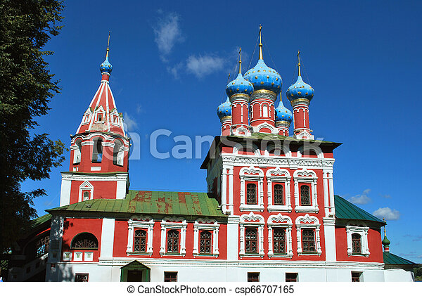 The Church of St. Dmitry on the Blood in Uglich, Yaroslavl Oblast, Russia - csp66707165