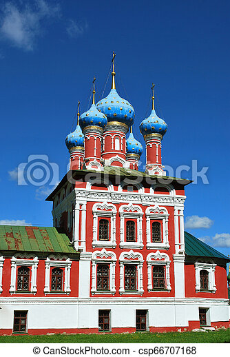 The Church of St. Dmitry on the Blood in Uglich, Yaroslavl Oblast, Russia - csp66707168
