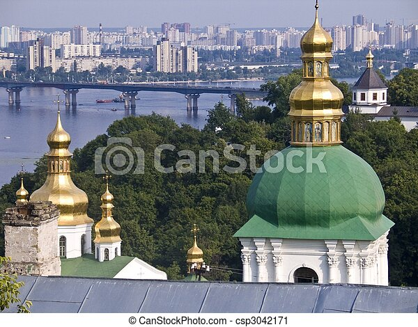 the city of Kiev, Ucraine, East Europe - csp3042171