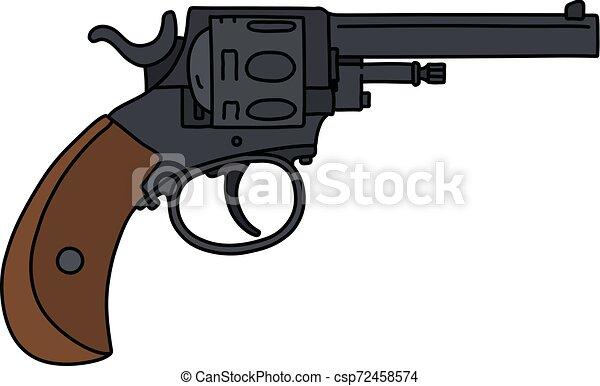The classic black revolver - csp72458574