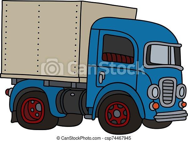 The classic blue truck - csp74467945