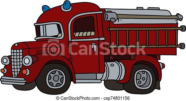 The classic fire truck - csp74801156