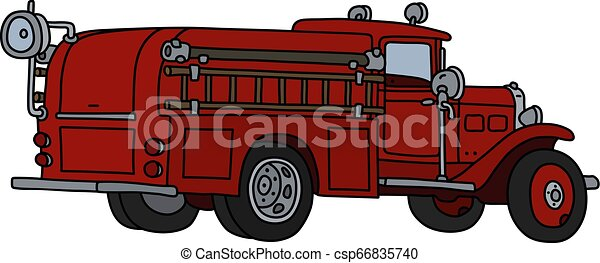 The classic fire truck - csp66835740