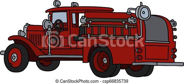 The classic fire truck - csp66835739