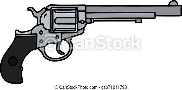 The classic long revolver - csp71211793