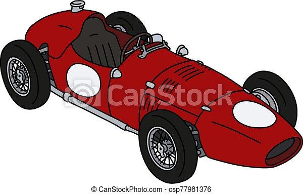 The classic red racecar - csp77981376