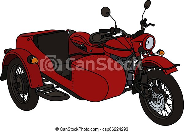 The classic red sidecar - csp86224293