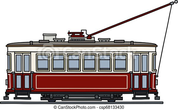 The classic red tramway - csp68133430