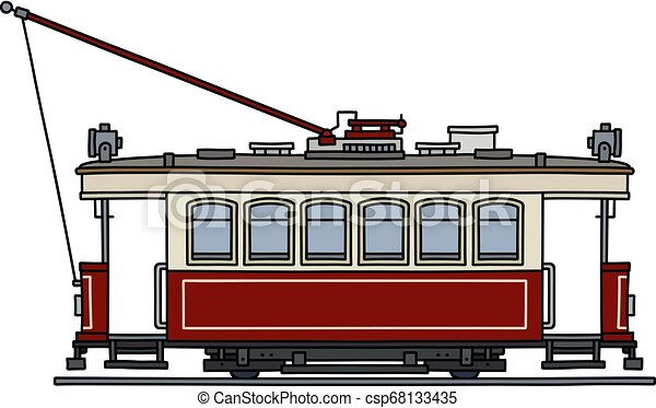 The classic red tramway - csp68133435