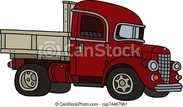 The classic red truck - csp74467961