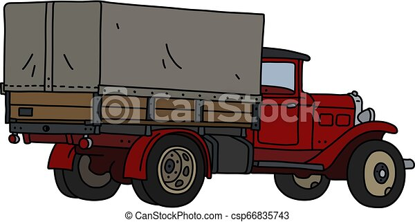 The classic red truck - csp66835743