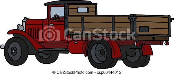 The classic red truck - csp66444012
