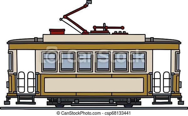 The classic yellow tramway - csp68133441