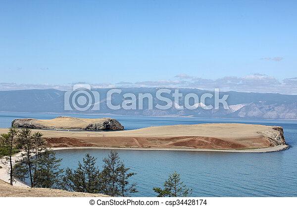 The coast at Lake Baikal, Olkhon island, , Russia - csp34428174