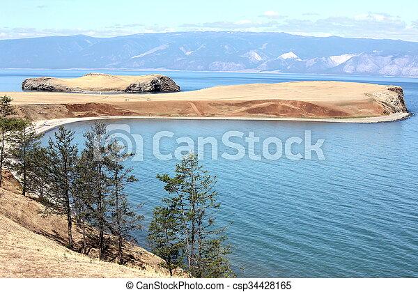 The coast at Lake Baikal, Olkhon island, Russia - csp34428165