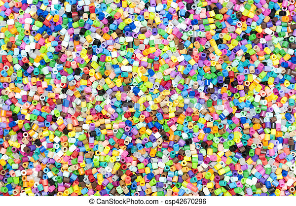 The colorful  of tiny  plastic tube background - csp42670296