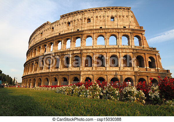 The Colosseum in Rome, Italy - csp15030388