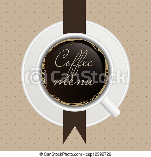 The concept of coffeehouse menu. - csp12392726