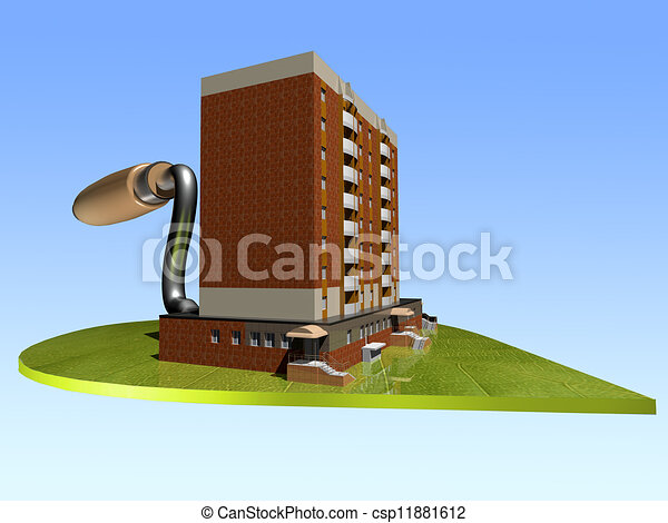 The concept of ecological housing construction - csp11881612