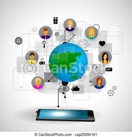 The concept of social network - csp25594161