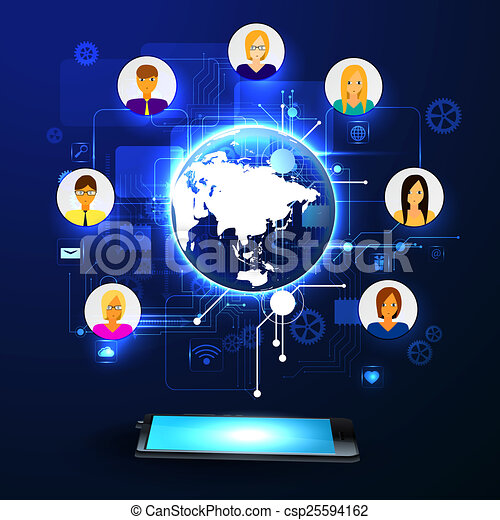 The concept of social network - csp25594162