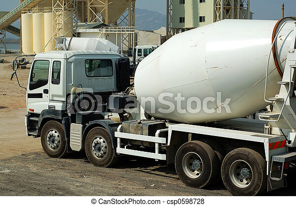 Cement Mixer Trucks In The Plant