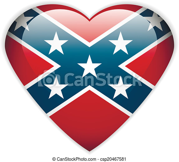 The Confederate flag button - csp20467581