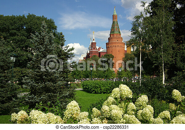 The Corner Arsenal Tower in Moscow Kremlin - csp22286331