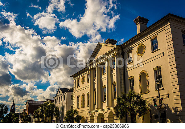 The County Courthouse in Charleston, South Carolina. - csp23366966