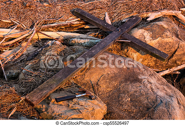 The Cross And Hammer Nails - csp55526497