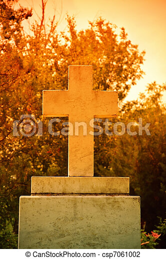 The cross at the sunset - csp7061002