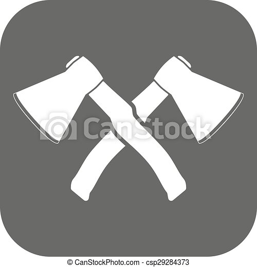 The Crossed Axes Icon Axe And Hack Symbol Flat Vector Illustration