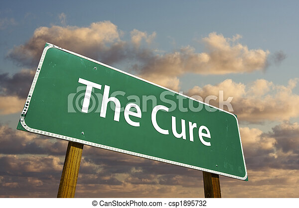 The Cure Green Road Sign - csp1895732