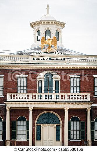 The Custom House in Salem, Massachusetts - csp93580166