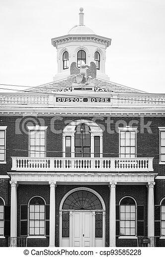The Custom House in Salem, Massachusetts - csp93585228