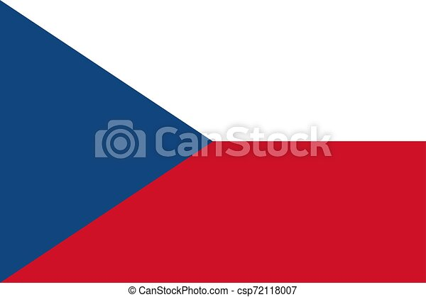 The Czech Republic flag. Vector illustration. Prague - csp72118007
