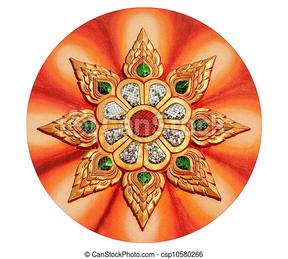 The Decoration of ganesha isolated on white background - csp10580266